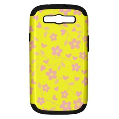 Floral Pattern Samsung Galaxy S Iii Hardshell Case (pc+silicone) by Valentinaart