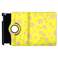 Floral Pattern Apple Ipad 3/4 Flip 360 Case by Valentinaart