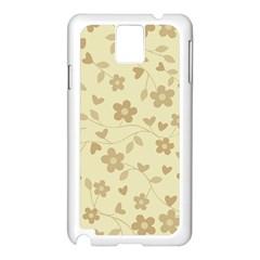 Floral Pattern Samsung Galaxy Note 3 N9005 Case (white) by Valentinaart