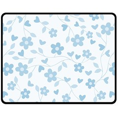 Floral Pattern Fleece Blanket (medium)  by Valentinaart