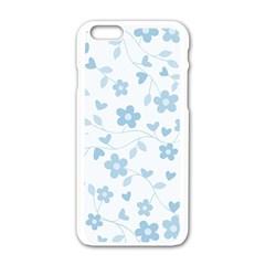 Floral Pattern Apple Iphone 6/6s White Enamel Case by Valentinaart