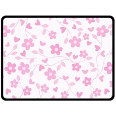 Floral Pattern Fleece Blanket (large)  by Valentinaart