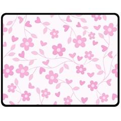 Floral Pattern Fleece Blanket (medium)  by Valentinaart