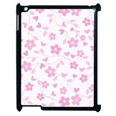 Floral Pattern Apple Ipad 2 Case (black) by Valentinaart