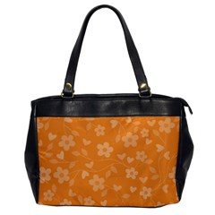 Floral Pattern Office Handbags by Valentinaart
