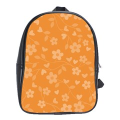 Floral Pattern School Bags (xl)  by Valentinaart