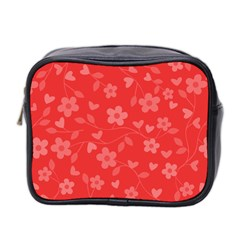 Floral Pattern Mini Toiletries Bag 2 Side by Valentinaart