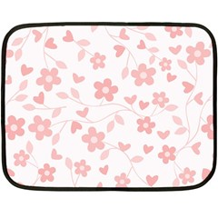 Floral Pattern Double Sided Fleece Blanket (mini)  by Valentinaart