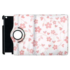 Floral Pattern Apple Ipad 2 Flip 360 Case by Valentinaart