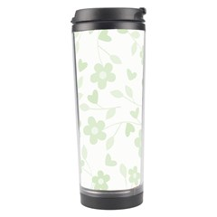 Floral Pattern Travel Tumbler by Valentinaart