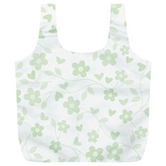 Floral Pattern Full Print Recycle Bags (l)  by Valentinaart
