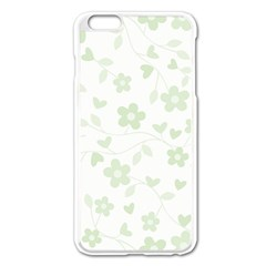Floral Pattern Apple Iphone 6 Plus/6s Plus Enamel White Case by Valentinaart