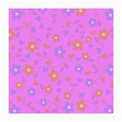 Floral Pattern Medium Glasses Cloth (2 Side) by Valentinaart