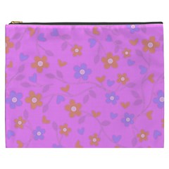 Floral Pattern Cosmetic Bag (xxxl)  by Valentinaart