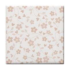 Floral Pattern Tile Coasters by Valentinaart