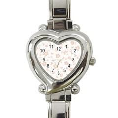 Floral Pattern Heart Italian Charm Watch by Valentinaart
