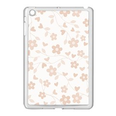Floral Pattern Apple Ipad Mini Case (white) by Valentinaart