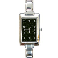 Floral Pattern Rectangle Italian Charm Watch by Valentinaart