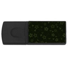 Floral Pattern Usb Flash Drive Rectangular (4 Gb) by Valentinaart