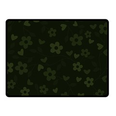 Floral Pattern Fleece Blanket (small) by Valentinaart