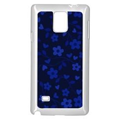 Floral Pattern Samsung Galaxy Note 4 Case (white) by Valentinaart