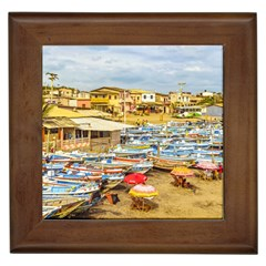Engabao Beach At Guayas District Ecuador Framed Tiles by dflcprints