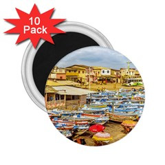 Engabao Beach At Guayas District Ecuador 2 25  Magnets (10 Pack)  by dflcprints