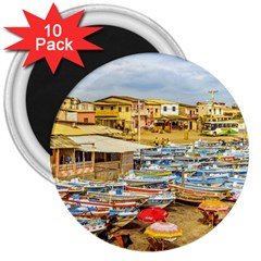 Engabao Beach At Guayas District Ecuador 3  Magnets (10 Pack)  by dflcprints