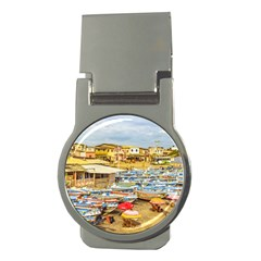 Engabao Beach At Guayas District Ecuador Money Clips (round)  by dflcprints