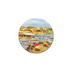 Engabao Beach At Guayas District Ecuador Golf Ball Marker by dflcprints