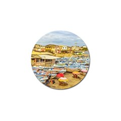 Engabao Beach At Guayas District Ecuador Golf Ball Marker (4 Pack) by dflcprints
