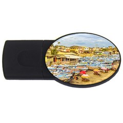 Engabao Beach At Guayas District Ecuador Usb Flash Drive Oval (2 Gb) by dflcprints