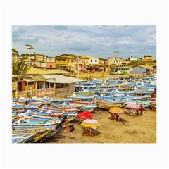 Engabao Beach At Guayas District Ecuador Small Glasses Cloth (2 Side) by dflcprints