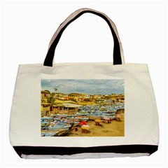 Engabao Beach At Guayas District Ecuador Basic Tote Bag (Two Sides) by dflcprints