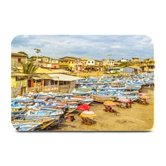 Engabao Beach At Guayas District Ecuador Plate Mats by dflcprints