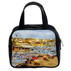Engabao Beach At Guayas District Ecuador Classic Handbags (2 Sides) by dflcprints