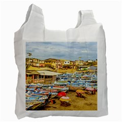 Engabao Beach At Guayas District Ecuador Recycle Bag (one Side) by dflcprints