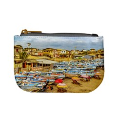 Engabao Beach At Guayas District Ecuador Mini Coin Purses by dflcprints