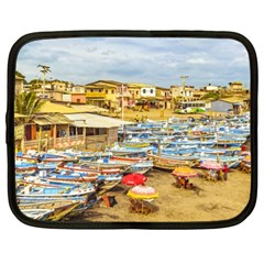 Engabao Beach At Guayas District Ecuador Netbook Case (xl)  by dflcprints