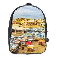 Engabao Beach At Guayas District Ecuador School Bags(large)  by dflcprints