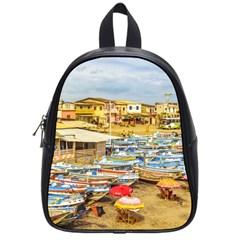Engabao Beach At Guayas District Ecuador School Bags (Small)  by dflcprints
