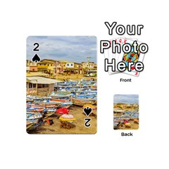 Engabao Beach At Guayas District Ecuador Playing Cards 54 (mini)  by dflcprints