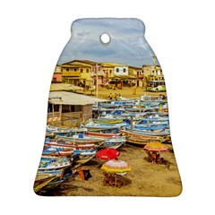 Engabao Beach At Guayas District Ecuador Ornament (bell) by dflcprints