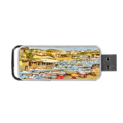 Engabao Beach At Guayas District Ecuador Portable Usb Flash (one Side) by dflcprints