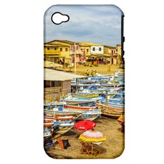 Engabao Beach At Guayas District Ecuador Apple Iphone 4/4s Hardshell Case (pc+silicone) by dflcprints
