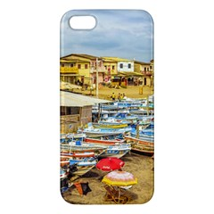 Engabao Beach At Guayas District Ecuador Apple Iphone 5 Premium Hardshell Case by dflcprints