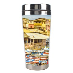 Engabao Beach At Guayas District Ecuador Stainless Steel Travel Tumblers by dflcprints
