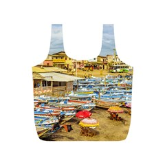 Engabao Beach At Guayas District Ecuador Full Print Recycle Bags (s)  by dflcprints