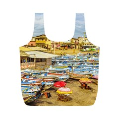 Engabao Beach At Guayas District Ecuador Full Print Recycle Bags (m)  by dflcprints