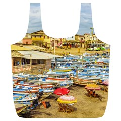 Engabao Beach At Guayas District Ecuador Full Print Recycle Bags (l)  by dflcprints